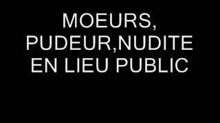 PUDEUR MOEURS EN LIEU PUBLIC