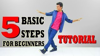 5 Basic Dance Steps for Beginners || Nishant Nair Tutorial