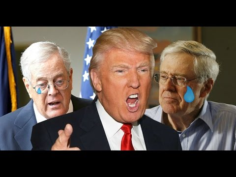 Donald Trump kicks out the Koch