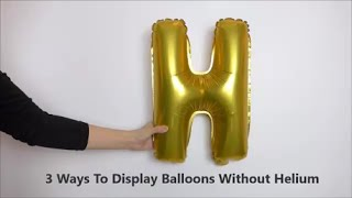 3 Ways to Display Balloons without Helium