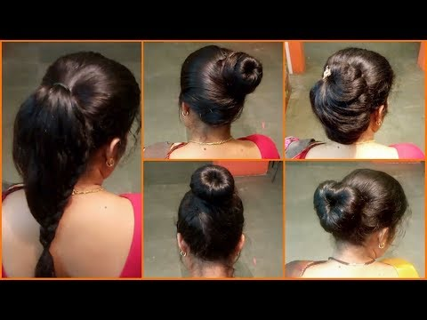 Anjali s Bun Hairstyles Part 4 5 Easy Bun Hairstyles Simple & Quick Latest Hairstyles