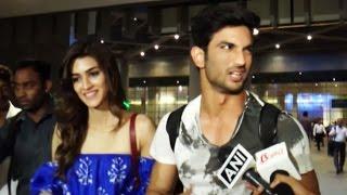 Kriti Sanon & Sushant Singh Rajput Return From Raabta Promotion Hyderabad