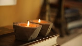 DIY Cement Candle Holders | Kin Community