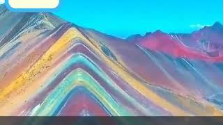 الجبال الملونه المخططه سبحان الله توجد غرب الصين