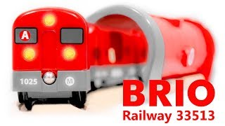 BRIO Metro Railway Set 33513 Toy Red Train with Subway Tunnel (FullHD Review)