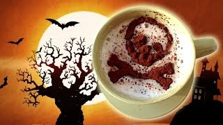Halloween Coffee Decoration ~簡単コーヒーデコ Halloween Latte Art