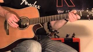Méchant cours de guitare acoustique pop en C majeur
