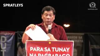 Duterte Platforms an excerpt from Campaign Kick Off at Tondo Feb2016