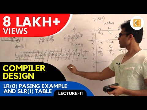 Compiler Design Lecture 11 -- LR(0) pasing example and SLR(1) table