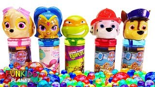 Learning Colors for Kids: Paw Patrol Chase & Skye, Shimmer and Shine and Ninja Turtle Bubbles Orbeez