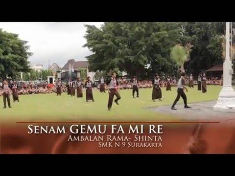 yel-yel dan senam GEMU FA MI RE Pramuka Ambalan Rama Shinta SMK 9 Solo