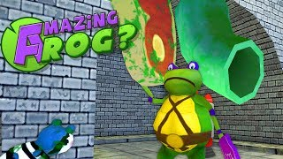 Teenage Mutant Ninja Turtle Frog Finds Zombie Steak in Secret Sewers! - Amazing Frog Gameplay
