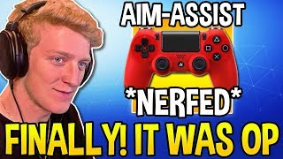 TFUE REACTS TO AIM-ASSIST *NERFED* in FORTNITE! - Fortnite Moments