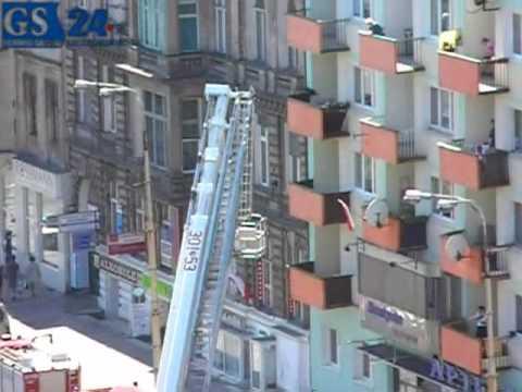 Szczecin brawurowa akcja strażaków