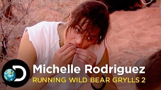 Michelle Rodriguez's Most Disgusting Meal | Running Wild with Bear Grylls S2