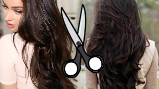 How I Cut Layers in My Hair AT HOME!
