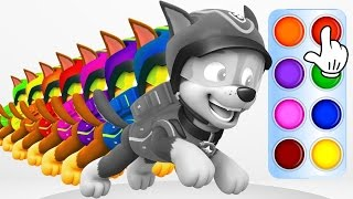 PAW PATROL All Pups BEST Way To Learn Colors Coloring Game Video Chase and Ryder 2017