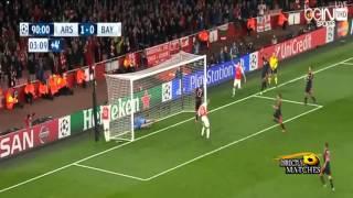 اهداف مباراة ارسنال وبايرن ميونخ  2 0 كاملة 2015 10 20 حفيظ دراجى HD