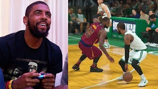Kyrie Irving Plays NBA 2K18 & Breaks LeBron James Ankles GAMEPLAY
