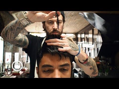 Versatile Summer Haircut for Multiple Looks at Barbershop