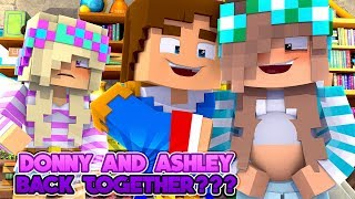 Minecraft DONNY FIGHTS WITH LEAH & TAKES PREGNANT ASHLEY BACK!!! Donny & Leah Adventures