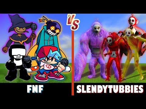 Friday Night Funkin vs. Slendytubbies Minecraft Oh no