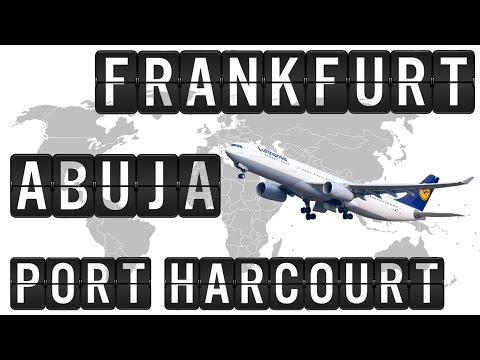 A330 Cockpit Flight Timelapse from FRANKFURT via ABUJA [ABV], to PORT HARCOURT [PHC], 5000km