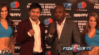 Manny Pacquiao vs. Timothy Bradley 3 full Video- COMPLETE Face Off Video- Los Angeles