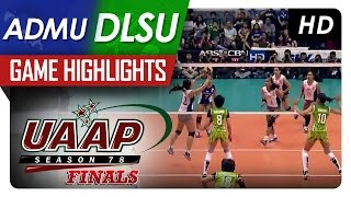 UAAP 78 WV Finals: DLSU vs ADMU Game Highlights