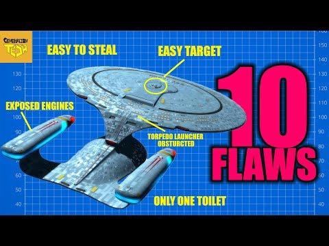 10 Flaws Star Trek USS Enterprise NCC 1701 D