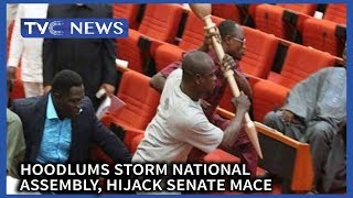 Hoodlums storm National Assembly, hijack Senate Mace