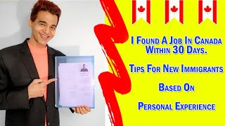 How to find a job in Canada in 30 days? Jake and Demi