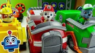 Patrulla Canina Vehículos Rocky, Marshall y Rubble Paw Patrol Vehicles - Juguetes de Patrulla Canina