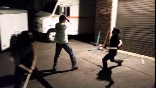 Light Sabre stunt training for Star Wars Fan Film