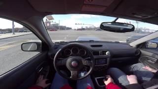 Driving a Subaru WRX STi