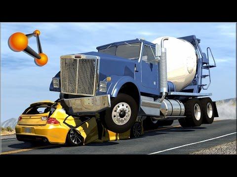BeamNG.Drive Trucks Vs Cars 5