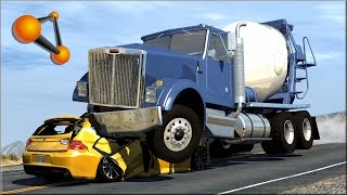 BeamNG.Drive Trucks Vs Cars #5