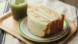 [4K] 감자 샐러드 샌드위치 : Potato Salad Sandwich : Honeykki 꿀키