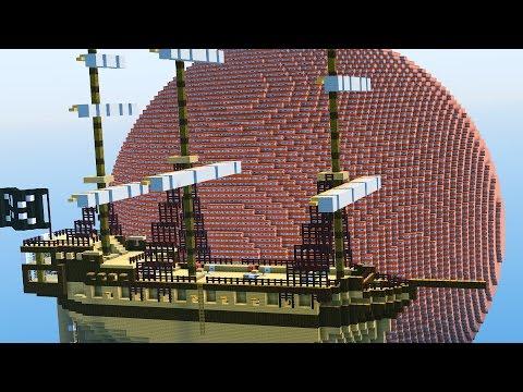 FLOATING TNT SHIPS 2v2 Minecraft TNT WARS