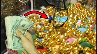 WON CASH FROM GOLDEN EGG CASH CLAW MACHINE! | JOYSTICK