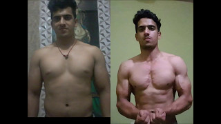 The Best Indian natural Body transformation story Fat to fit with muscle 2017