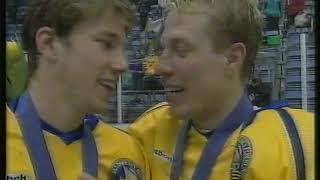SVT-inslag om OS-finalen i Lillehammar (Sverige-Kanada)