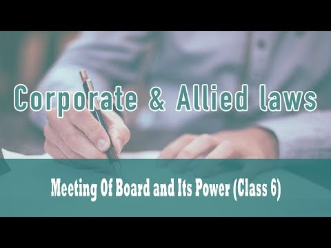 Meeting Of Board and Its Power (Class 6) | Section 176 | Questions on Section 175