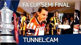 TUNNEL:CAM Hull City vs Sheffield United FA Cup Semi Final at Wembley