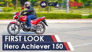 New Hero Achiever 150 First Look - NDTV CarAndBike