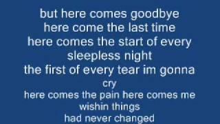 rascal flats here comes goodbye lyrics