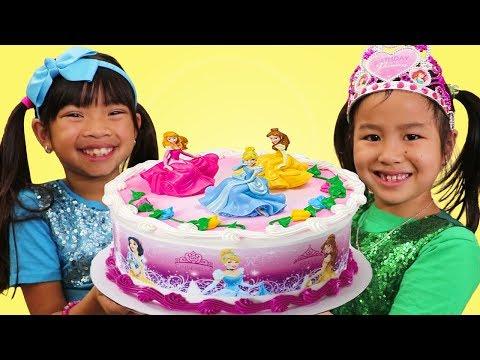 Xxx Mp4 Emma Jannie Pretend Play W Happy Princess Birthday Cake Surprise Party Toys 3gp Sex