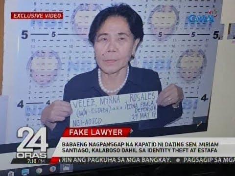 Xxx Mp4 24 Oras Nagpanggap Na Kapatid Ni Dating Sen Santiago Kalaboso Dahil Sa Identity Theft At Estafa 3gp Sex