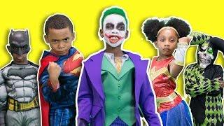 Batman vs Superman Joker The Kidnapper⎜Captain America Civil War vs Justice League Part 3⎜ZZ Kids TV