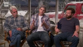 On the set of 'The Ranch' with Ashton Kutcher a...